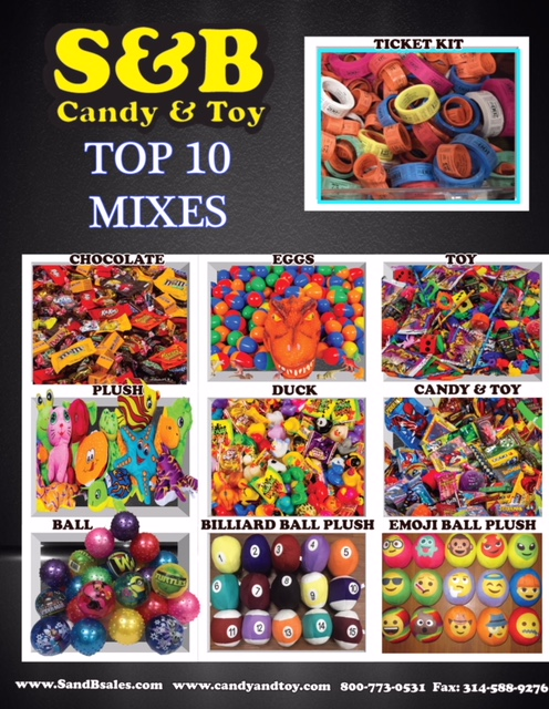 S&B Candy & Toy Co-St  Louis Game Co  | 1-800-773-0531